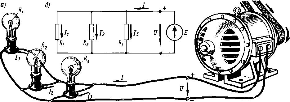 Параллельное соединение электроприемников