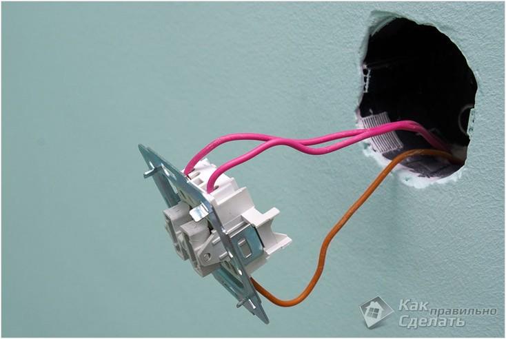 Подключение выключателя люстры