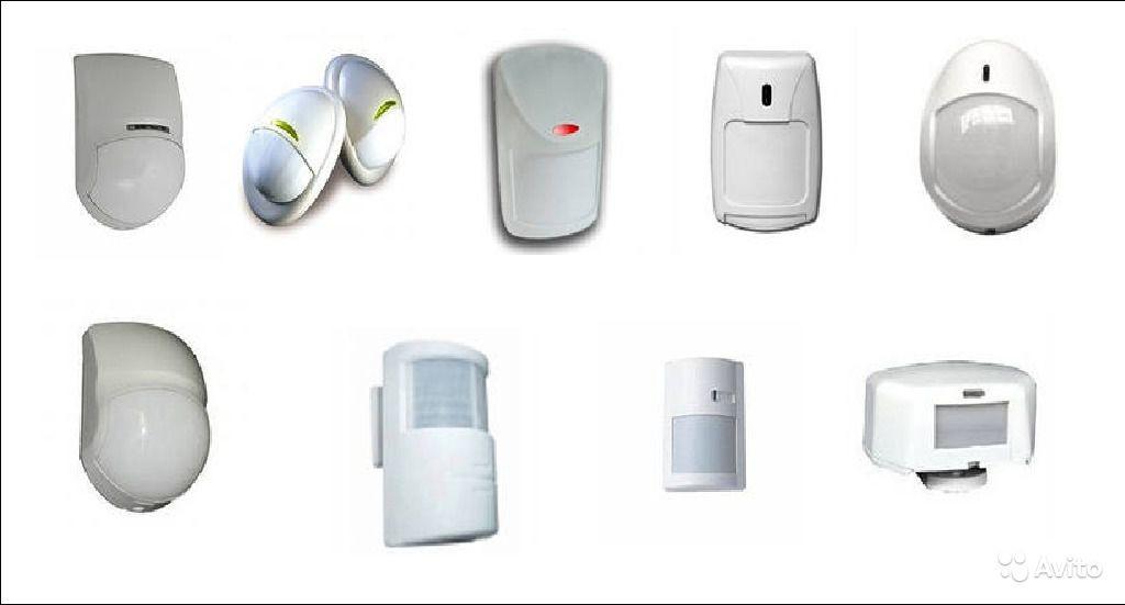 На фото представлены разнообразные датчики движения