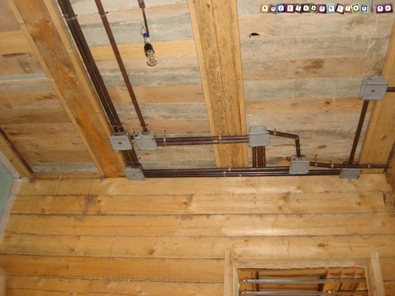 Проводка электропроводки в трубах