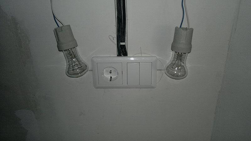 Подключаем выключатель от розетки