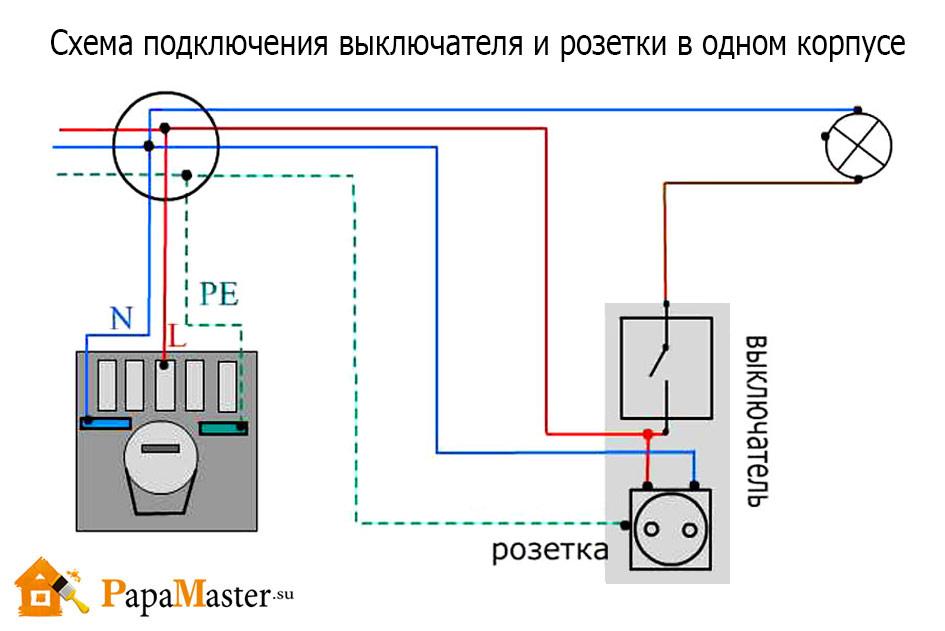 Подключение выключателя от розетки