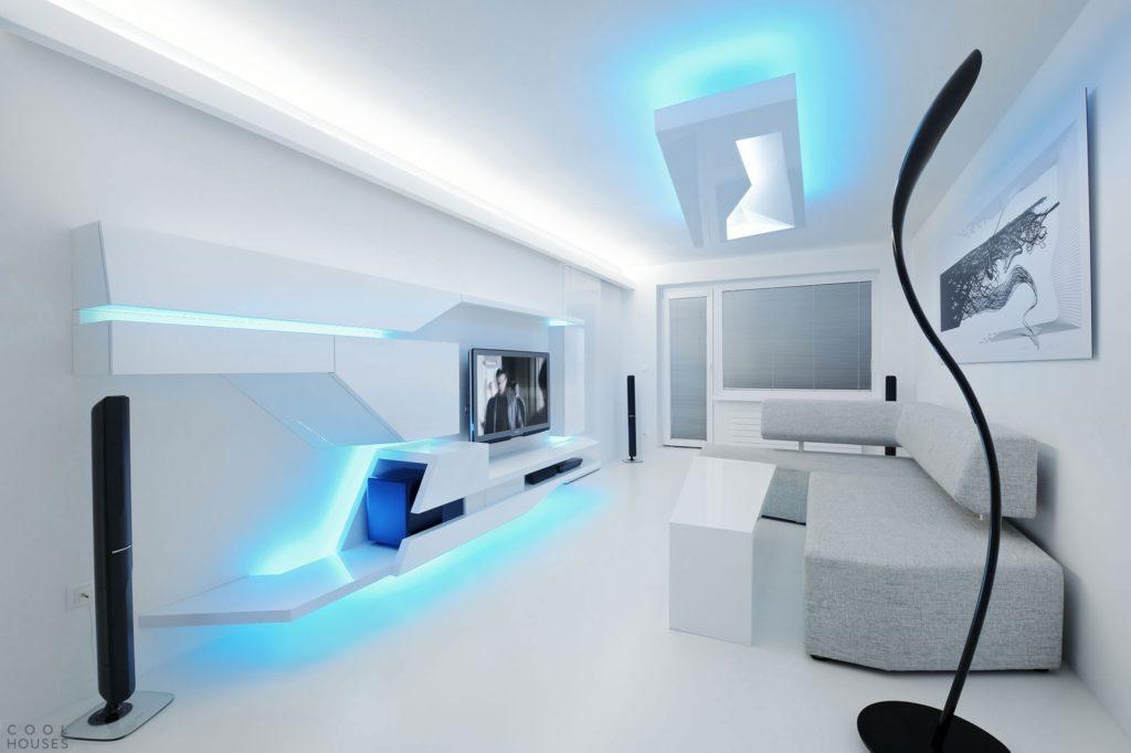 Освещение в квартире студии