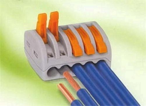 Быстрозажимные клеммы для многожильного провода