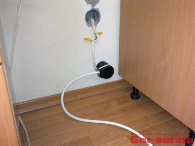 Перенос розетки электрической плиты