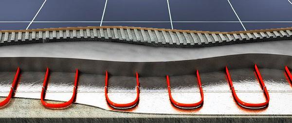 Электрические теплый пол с греющим кабелем