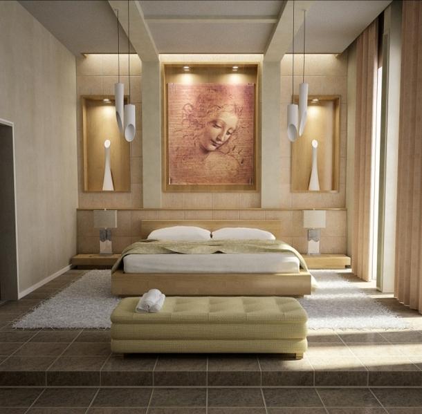 Все виды освещения в интерьере спальни