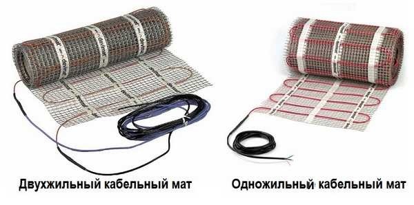 Греющие маты на основе греющего кабеля