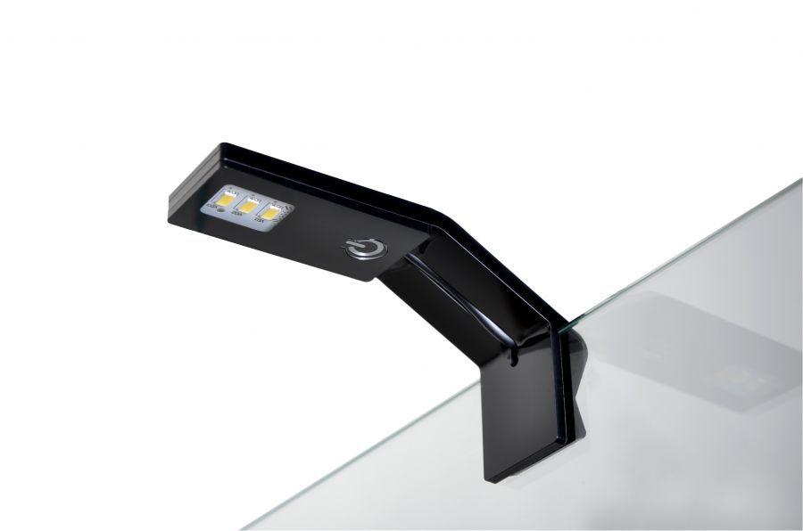 Одиночный светильник-клипса со светодиодами, устанавливающийся на стенку аквариума
