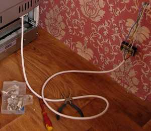 Подключение электроплиты через клеммник