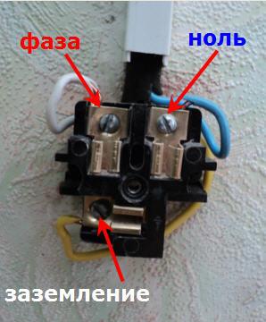 Подключение розетки электроплиты для однофазной сети