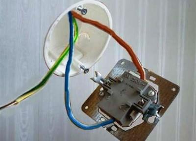 Замена розетки на выключатель