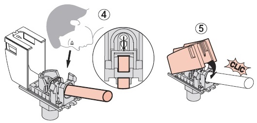 Подключение ТВ розетки с пружинным механизмом