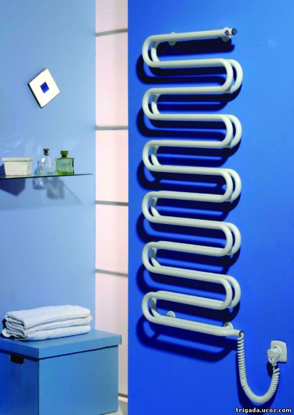 Полотенцесушитель с нагревательным элементом на основе греющего кабеля