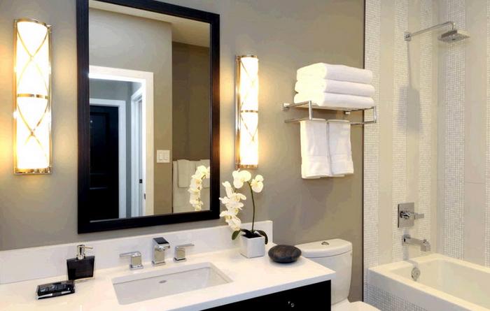 Местное освещение в ванной комнате