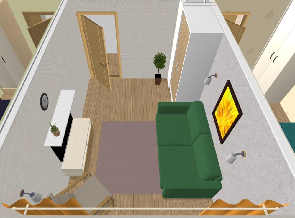 На фото представлен план комнаты для составления дизайна освещения