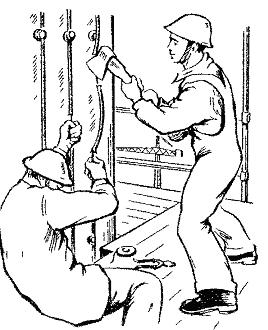 Перерубить провод к розетке топором