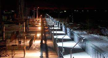 На фото представлено охранное освещение