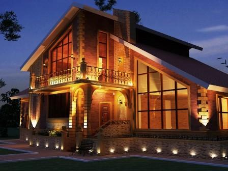 Наружное освещение частного дома