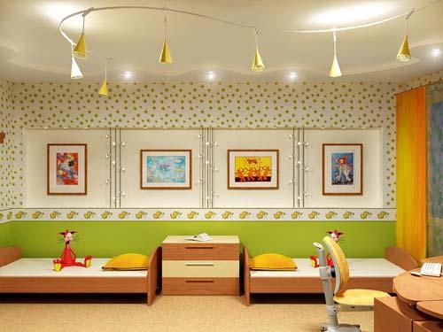 Общее освещение в детской комнаты