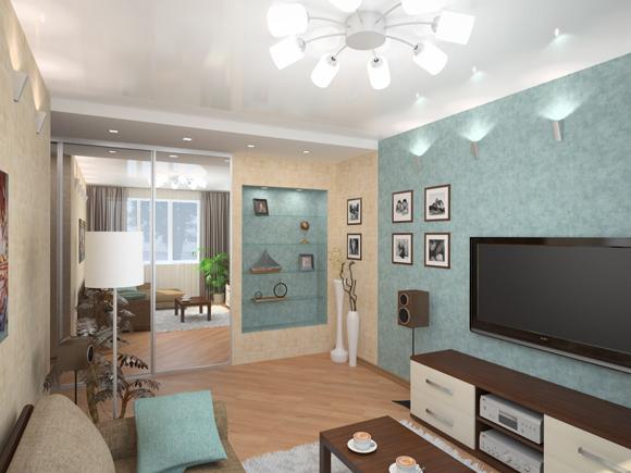 Отраженное общее освещение комнаты