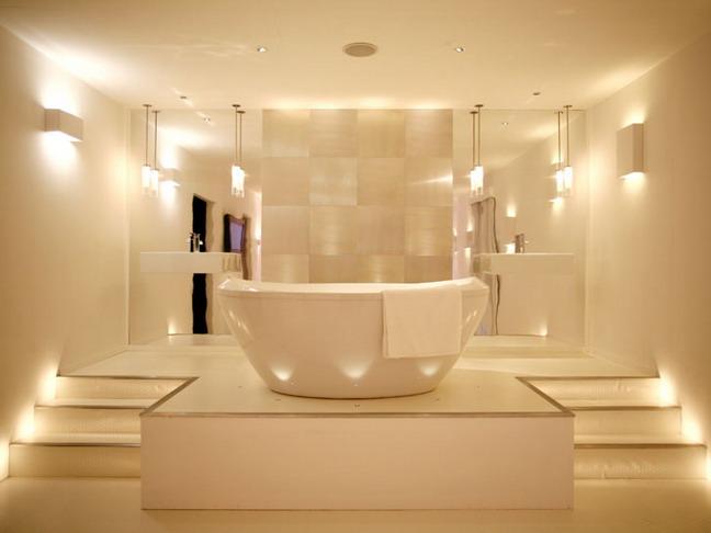 Создаем сеть освещения в ванной комнате