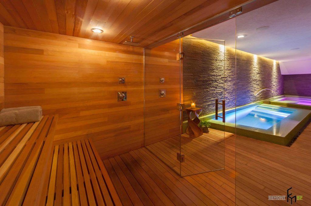 Выбираем освещение для бассейна в бане