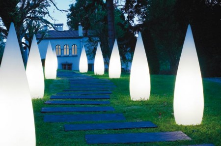 Декоративные столбики освещения садовых дорожек