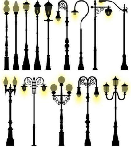 Кованные столбы освещения