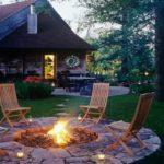 Освещение зоны отдыха в саду