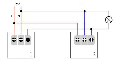 Схема непосредственного подключения от нескольких датчиков