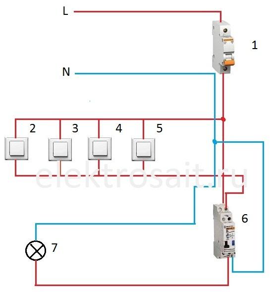 импульсное реле abb e290 схема подключения