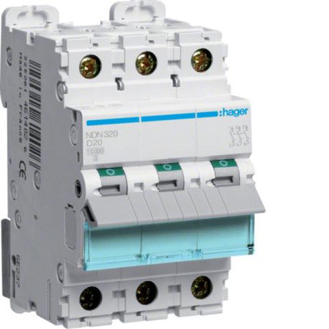 Трехфазный автомат для подключения к трехфазной сети электрической печи
