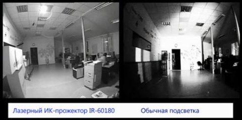 Разница обычной и инфракрасной подсветки