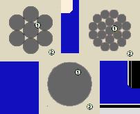 Расположение отдельных проволок в проводах АПВ