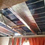 Использование инфракрасной плёнки для обогрева потолка