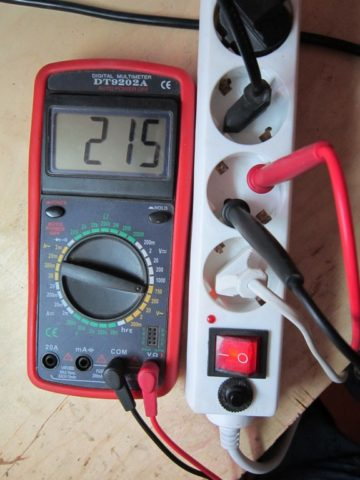 Измерения с помощью мультиметра
