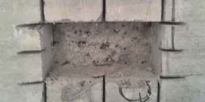 Отверстие под розетку выполненное болгаркой