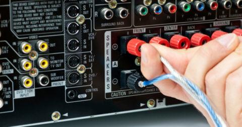 Подключение акустической системы