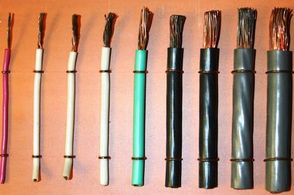 Различные сечения проводов ПуГВ