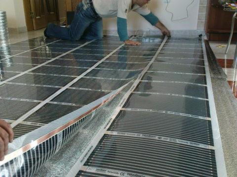 Укладка плёнки поверх изолирующей подложки