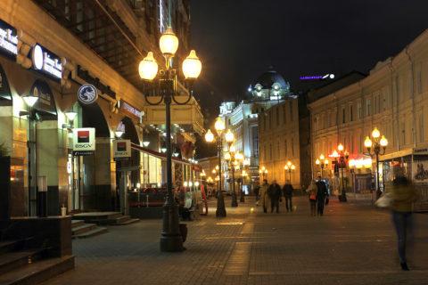 Фоновая освещенность улиц городов