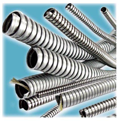 Металлический гофрированный шланг для проводки
