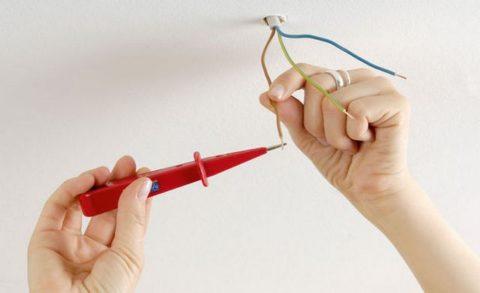 Определение фазного провода