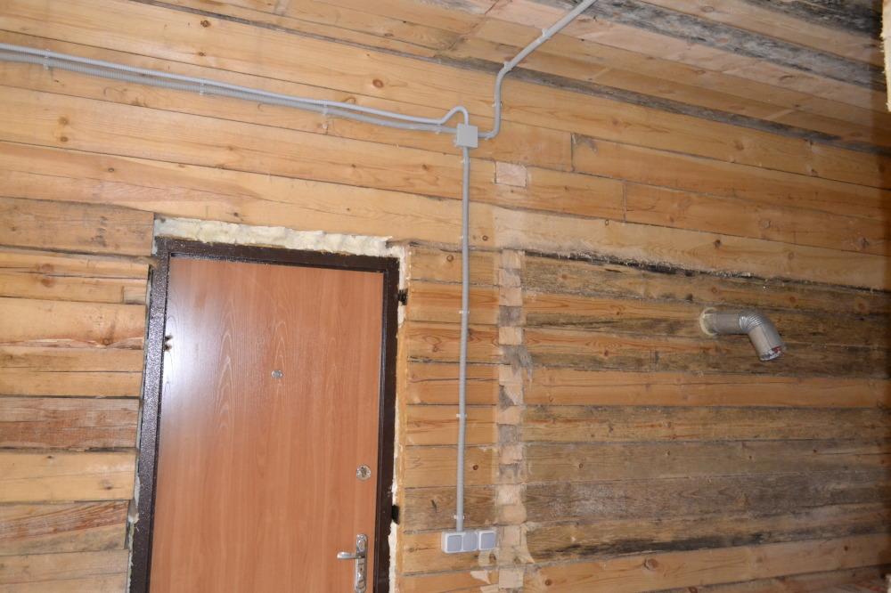 Электропроводка наружная в деревянном доме пошаговая