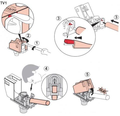 Правила монтажа розеток с автоматическими клеммами