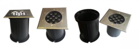 Светильники для установки ниже уровня земли