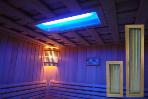 Светодиодное освещение в бане: холодный оттенок
