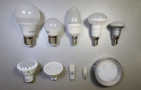 Типы цоколя для светодиодных ламп