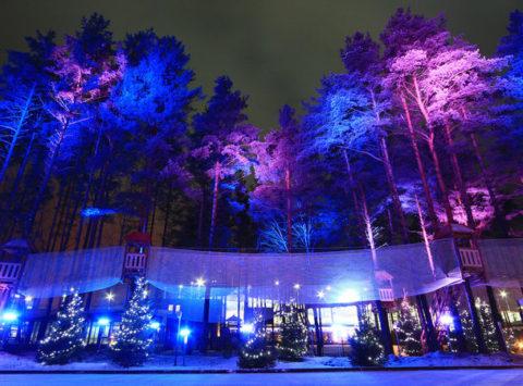 Зависимость архитектурного освещения от зеленых насаждений